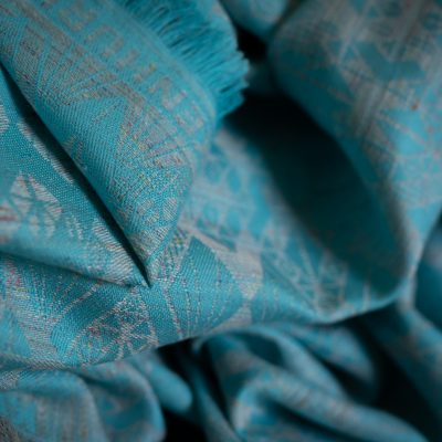 VITRAZH SCARF – MULTICOLOR/TURQUOISE